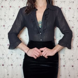 Vintage Starry Night Sparkle Blouse